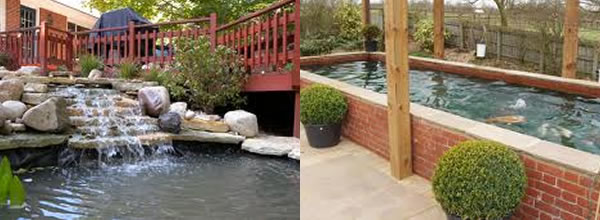 Water features created by us